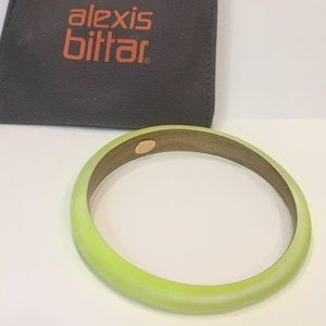 Alexis Bittar Vibrant Yellow Tapered Lucite Bangle